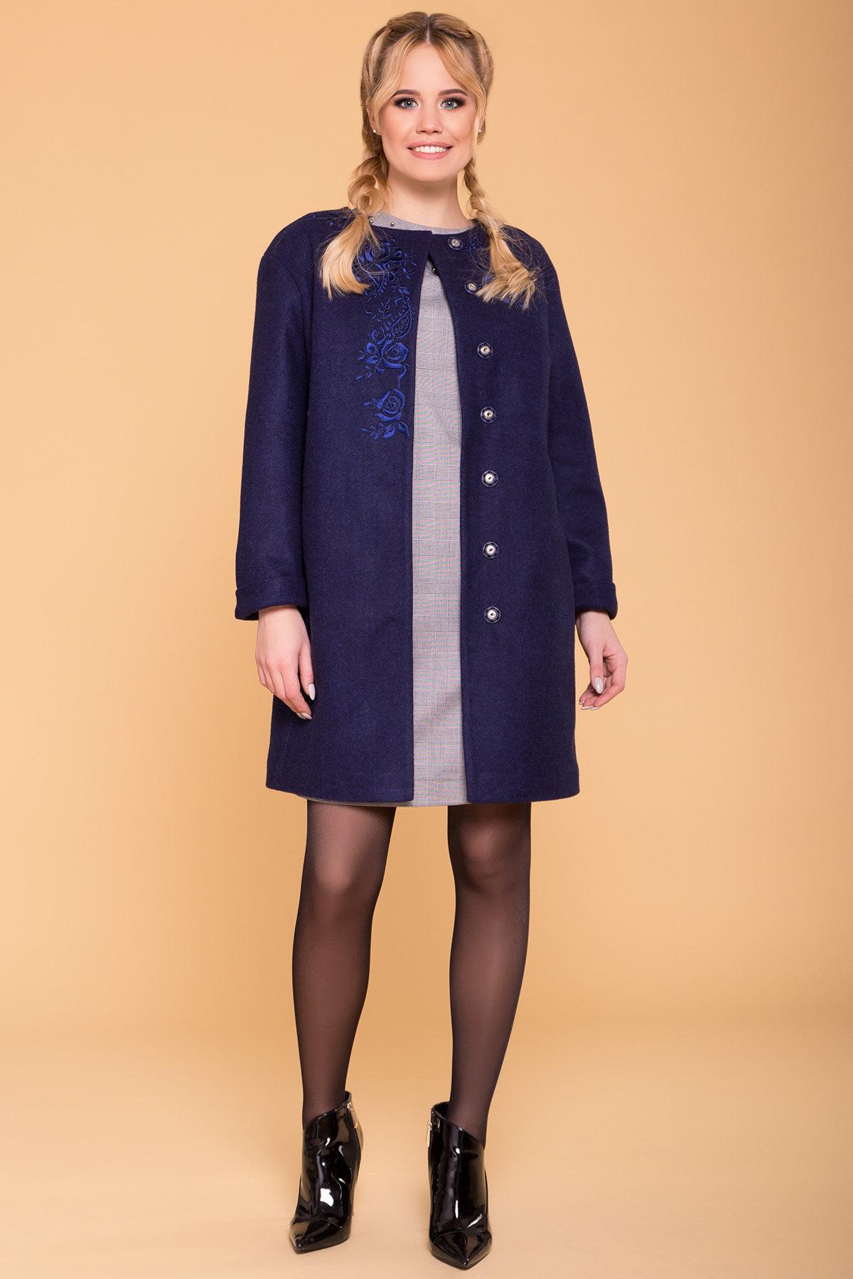 Пальто Авелони 4555 АРТ. 37022 Цвет: Темно-синий 17 - фото 3, интернет магазин tm-modus.ru
