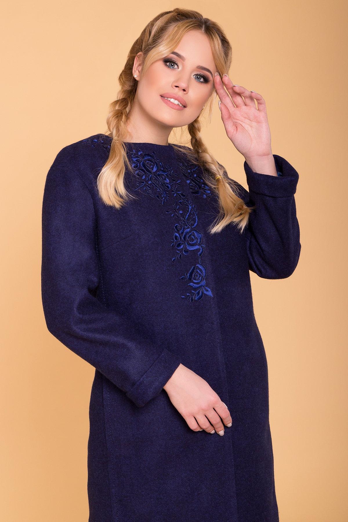 Пальто Авелони 4555 АРТ. 37022 Цвет: Темно-синий 17 - фото 4, интернет магазин tm-modus.ru