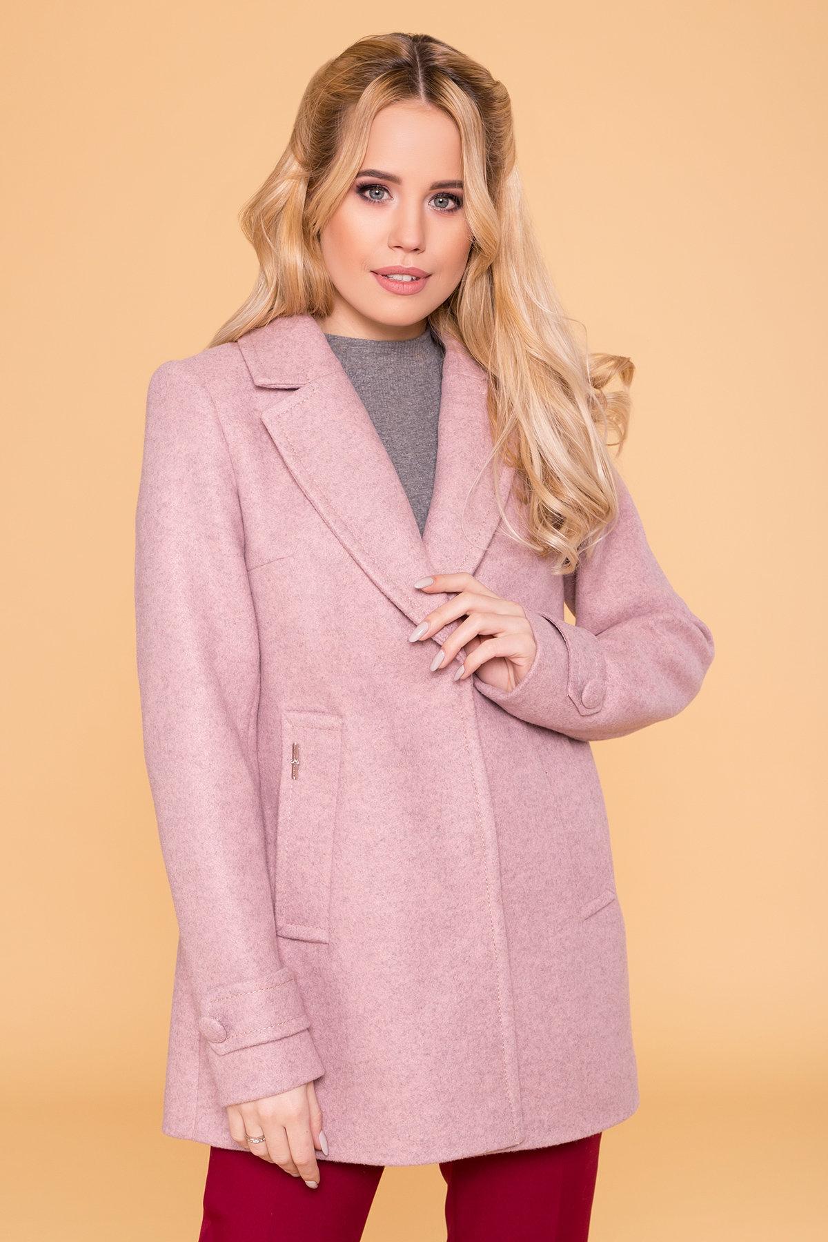 Пальто Нейт 6362 Цвет: Серо-розовый 7