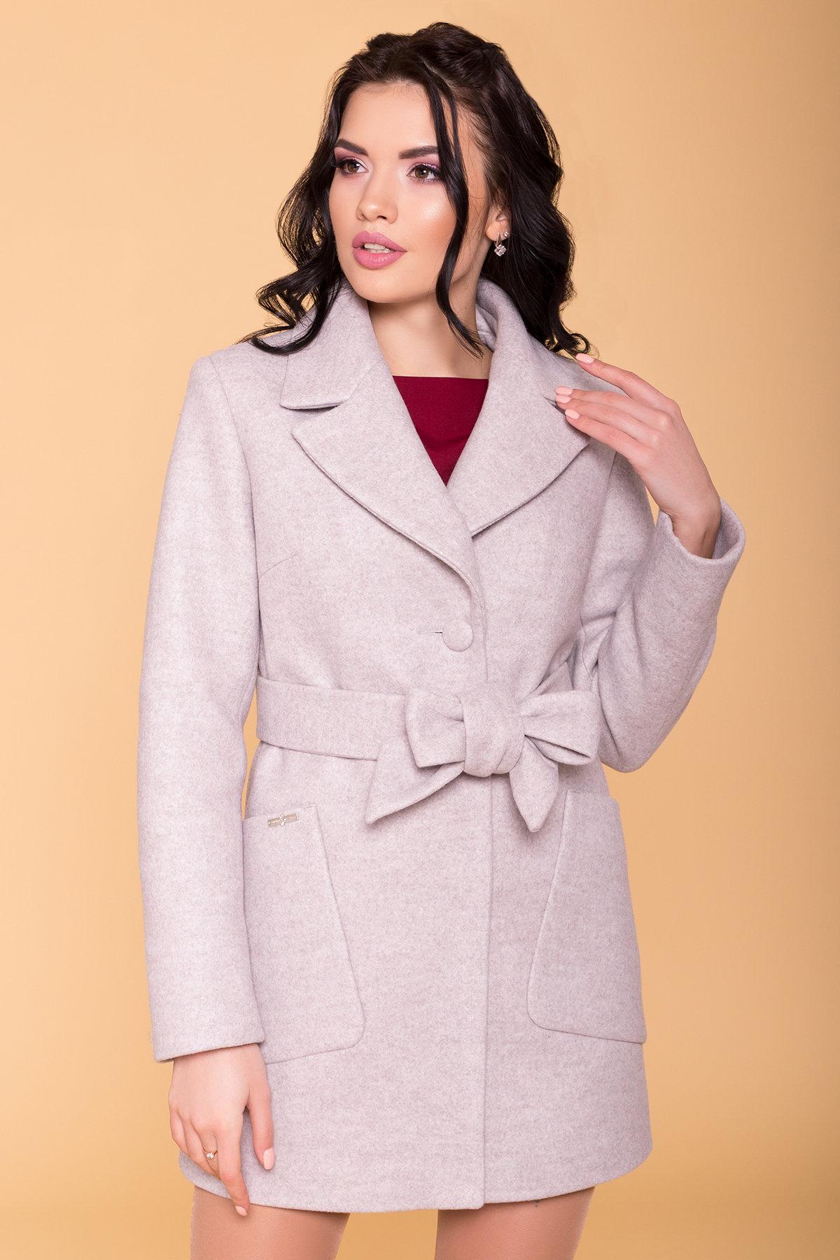 Пальто Кидмон 6220 АРТ. 41251 Цвет: Серо-бежевый 19 - фото 5, интернет магазин tm-modus.ru