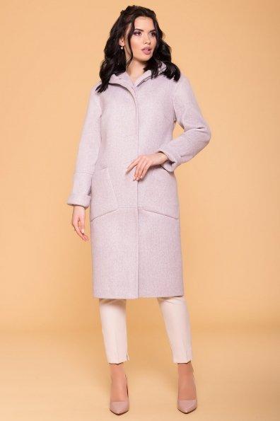 Пальто Анита 4462 Цвет: Серый-розовый 21