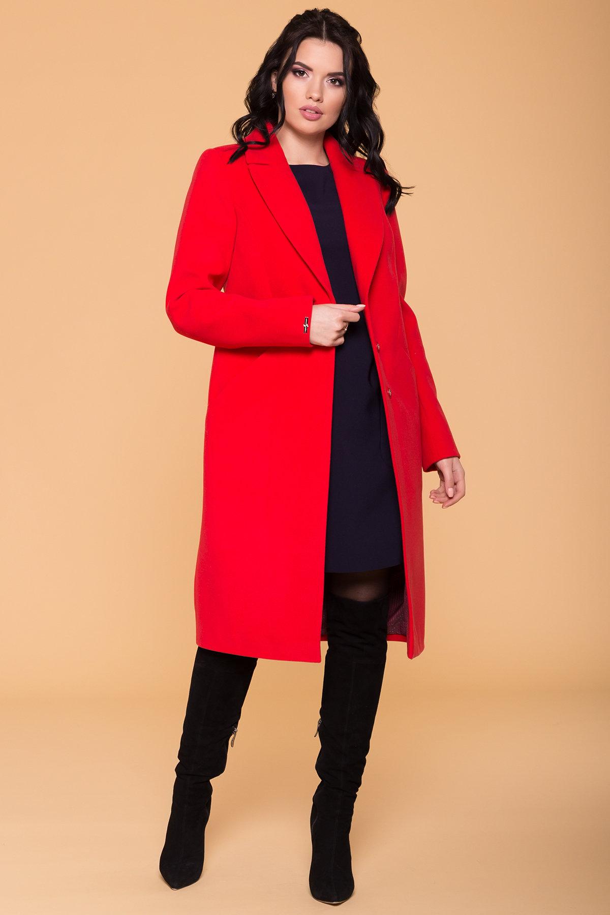 Пальто Мехико 6374 Цвет: Красный