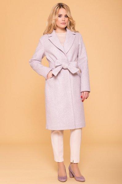 Пальто Ждана лайт 6337 Цвет: Серый-розовый 21