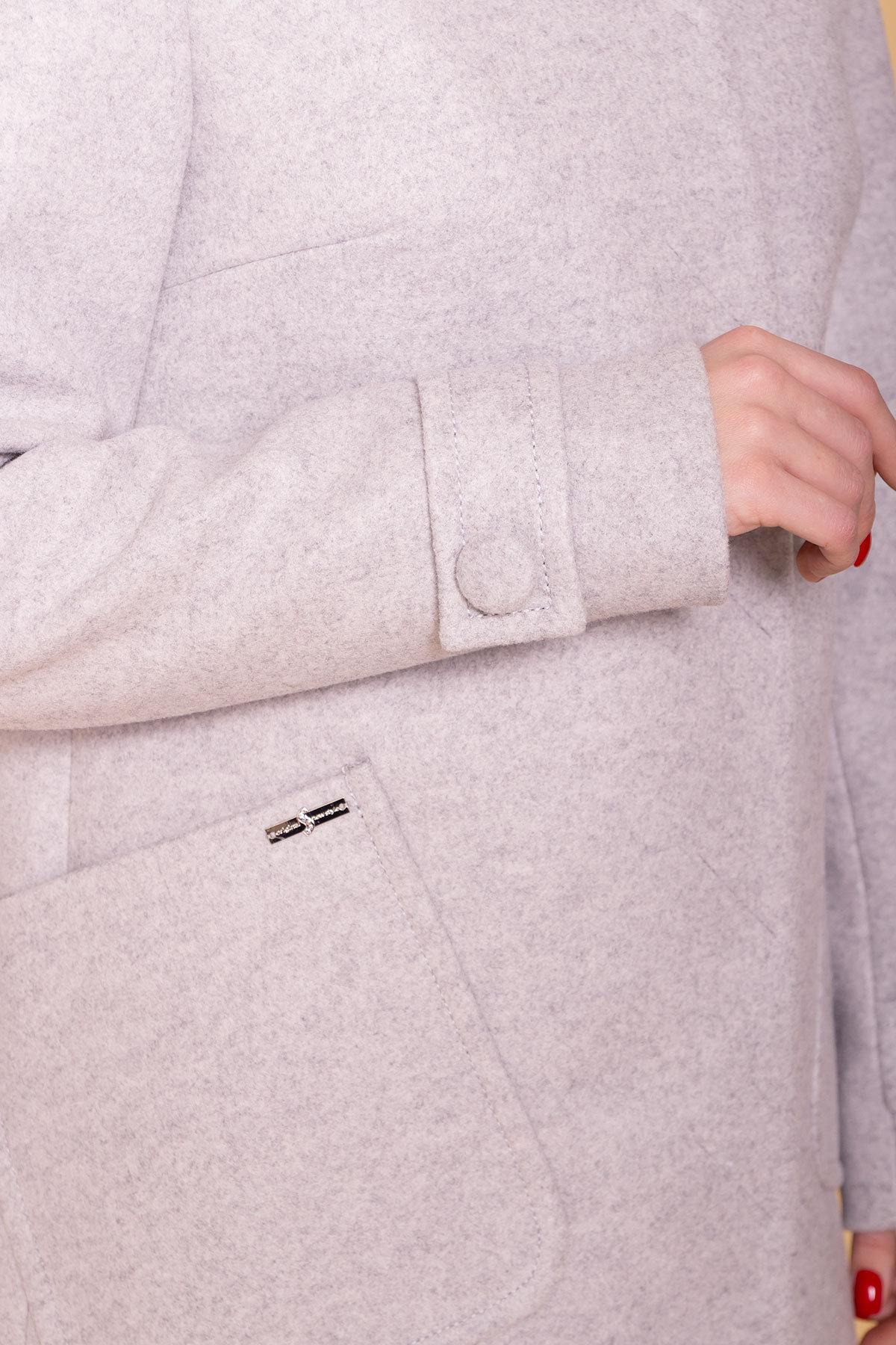 Пальто Латте 5637 АРТ. 41009 Цвет: Серый Светлый 27 - фото 5, интернет магазин tm-modus.ru