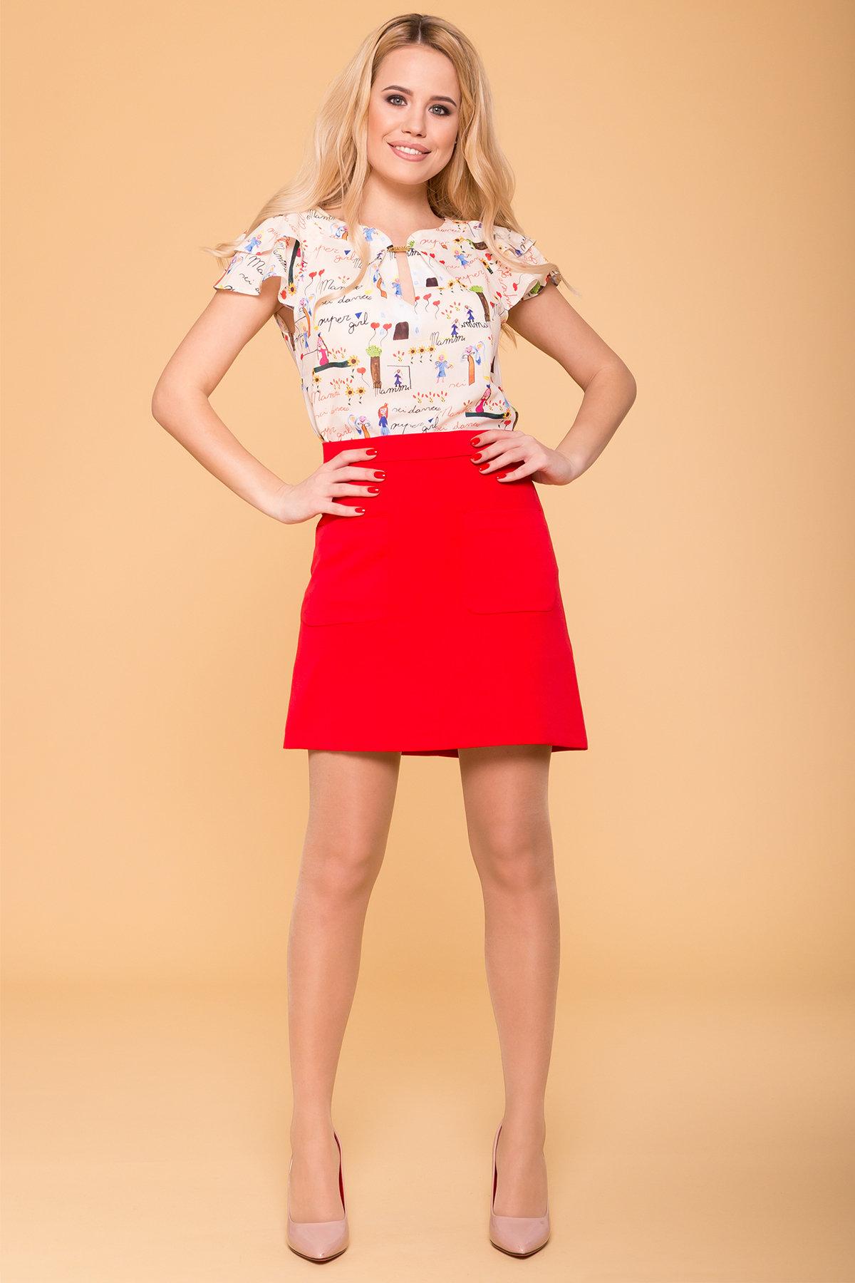Женские блузки оптом от производителя Блуза с принтом Инканто 3916