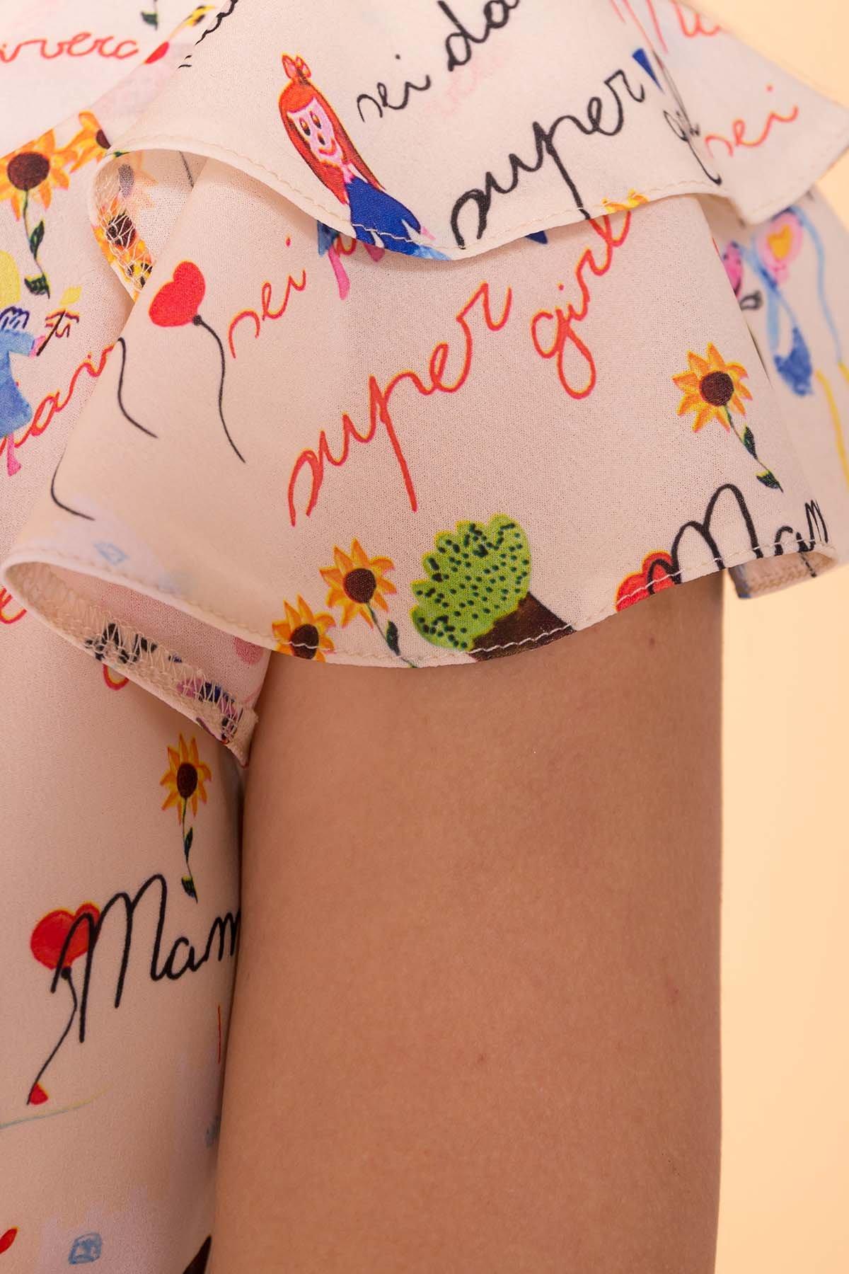 Блуза с принтом Инканто 3916 АРТ. 41401 Цвет: Беж св дет.рис.16/3 - фото 4, интернет магазин tm-modus.ru