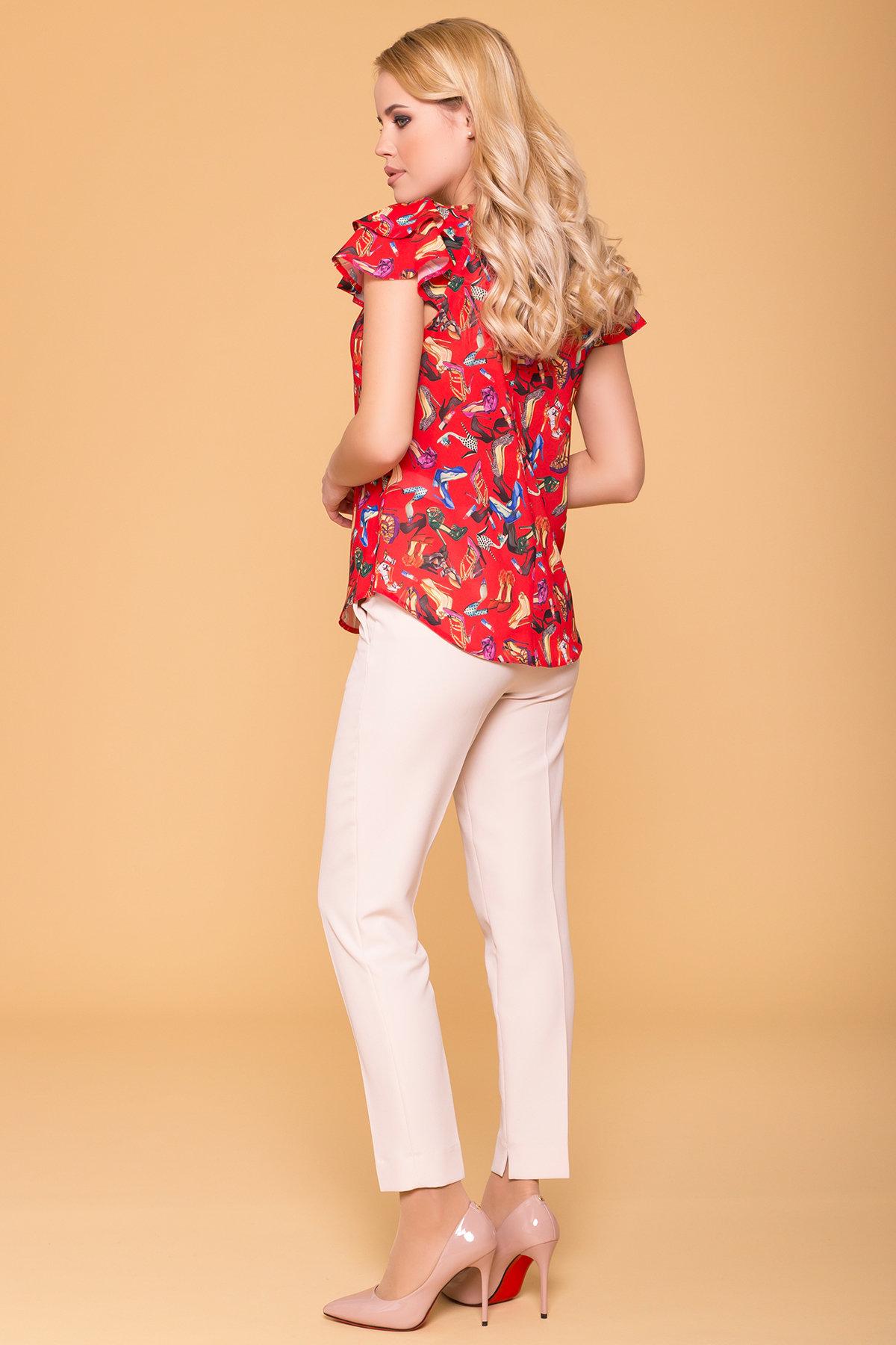 Блуза с принтом Инканто 3916 АРТ. 41403 Цвет: Красный Женская  обувь - фото 2, интернет магазин tm-modus.ru