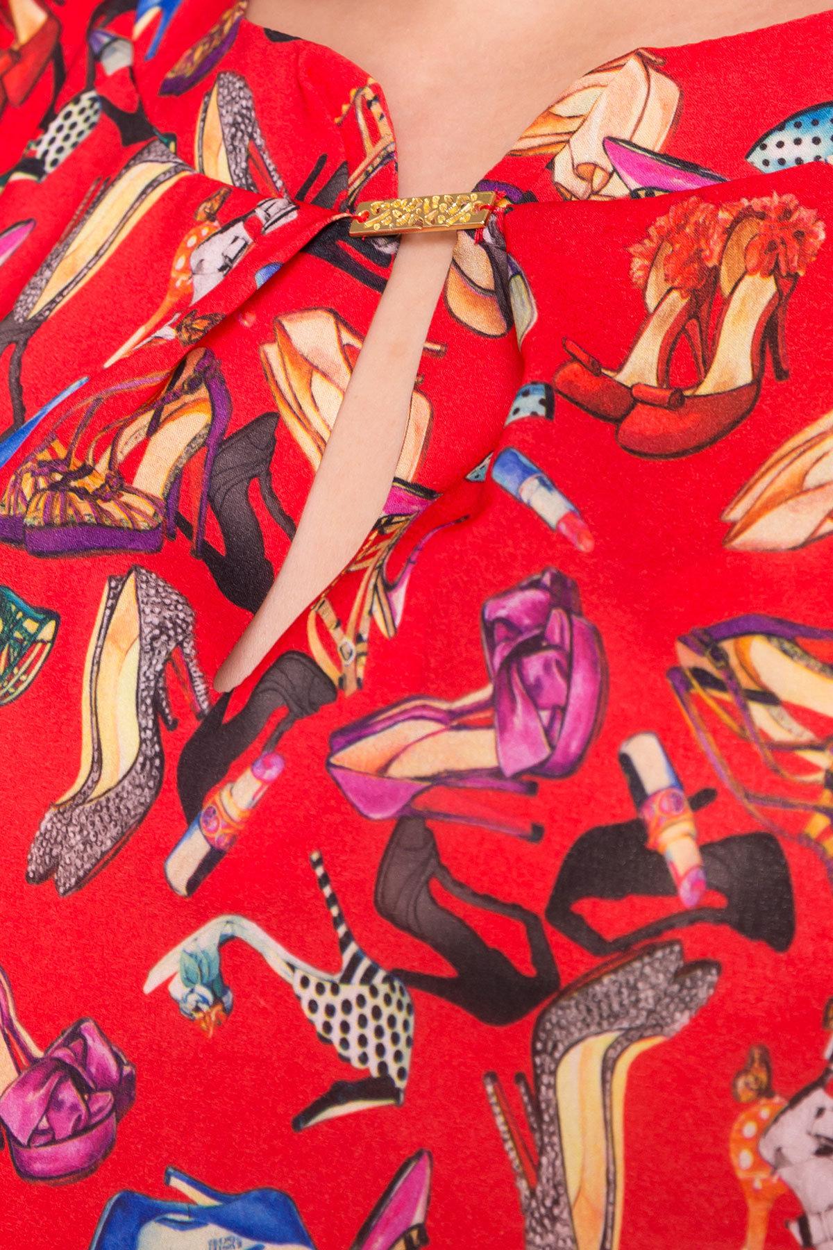Блуза с принтом Инканто 3916 АРТ. 41403 Цвет: Красный Женская  обувь - фото 4, интернет магазин tm-modus.ru
