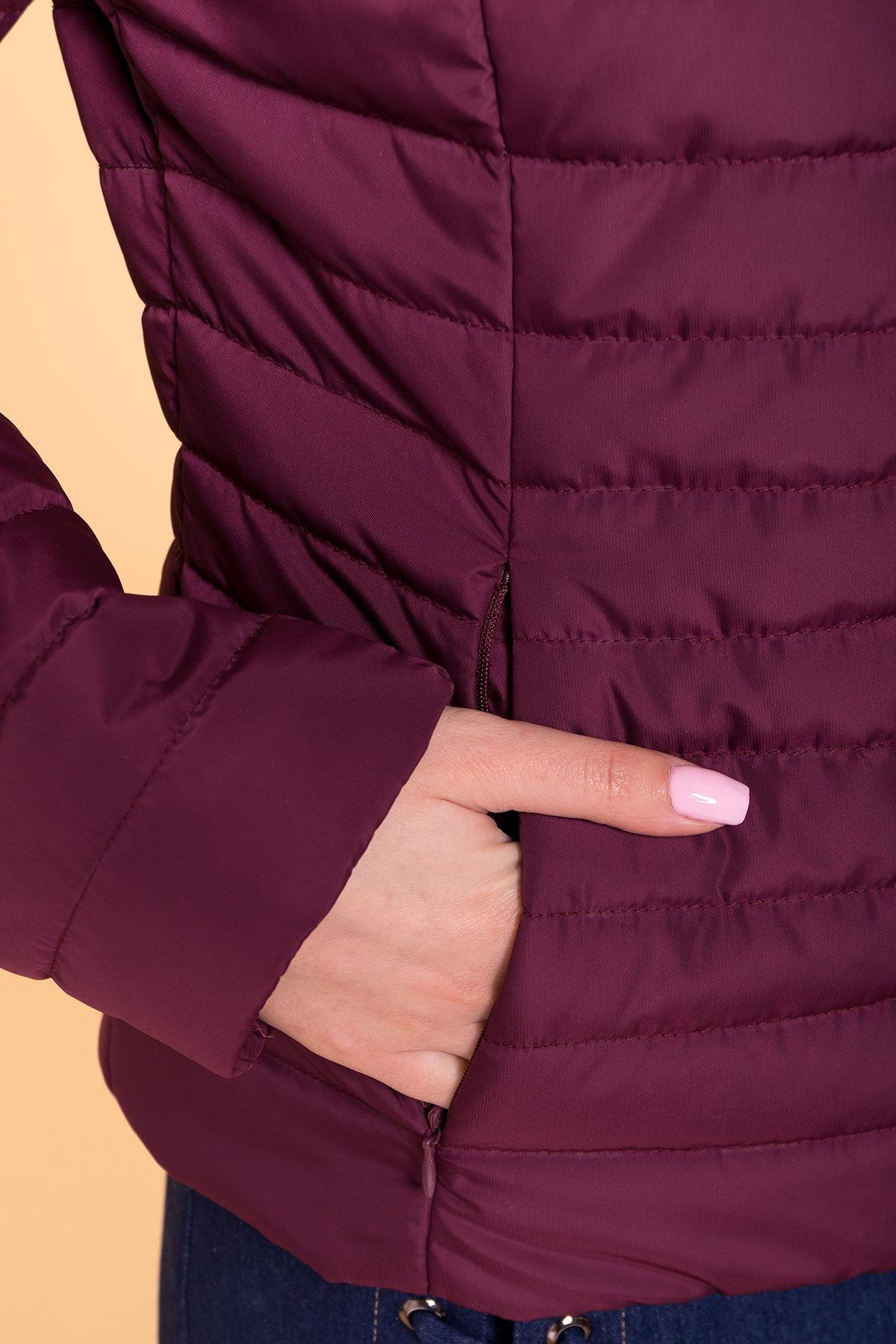 Куртка Флориса лайт 6416 АРТ. 41374 Цвет: Слива - фото 5, интернет магазин tm-modus.ru