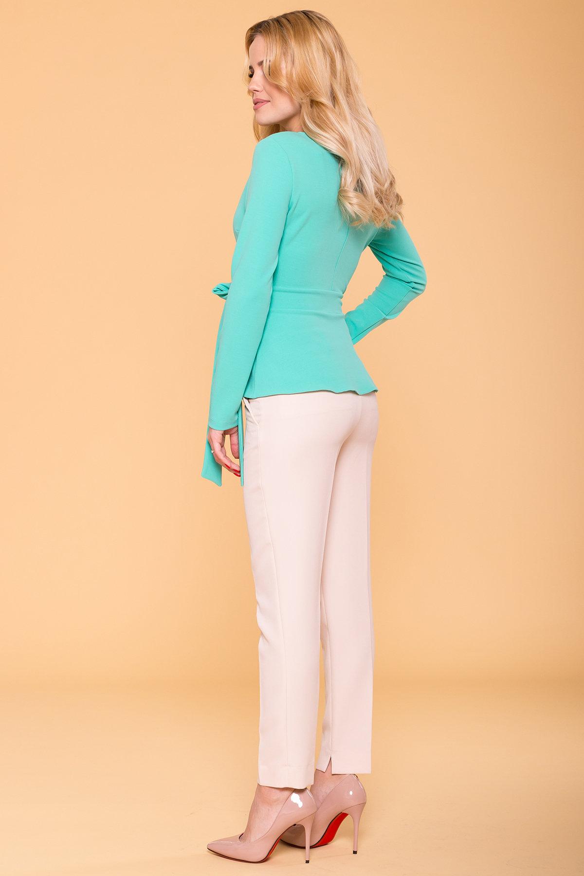 Блуза  Марсо 6432 АРТ. 41430 Цвет: Бирюзa - фото 2, интернет магазин tm-modus.ru
