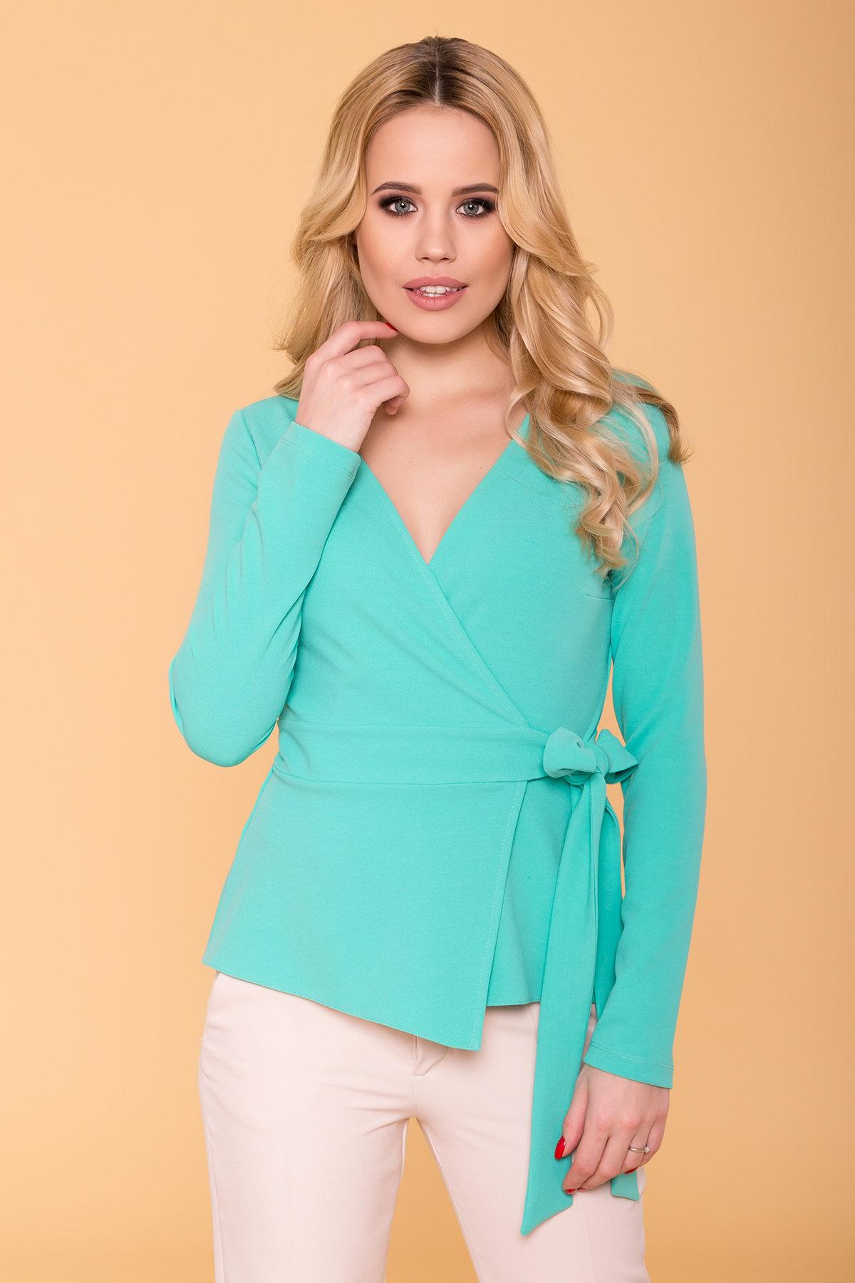 Блуза  Марсо 6432 АРТ. 41430 Цвет: Бирюзa - фото 3, интернет магазин tm-modus.ru