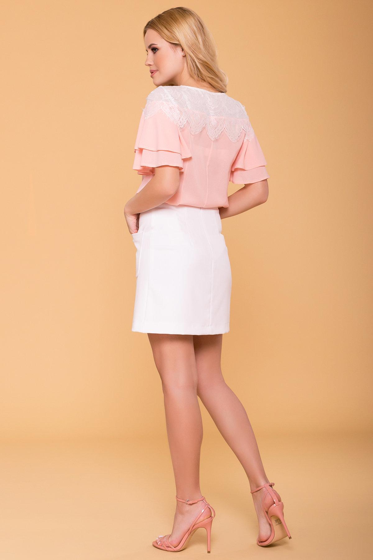 Блуза Ирис 4835 АРТ. 34575 Цвет: Пудра - фото 2, интернет магазин tm-modus.ru