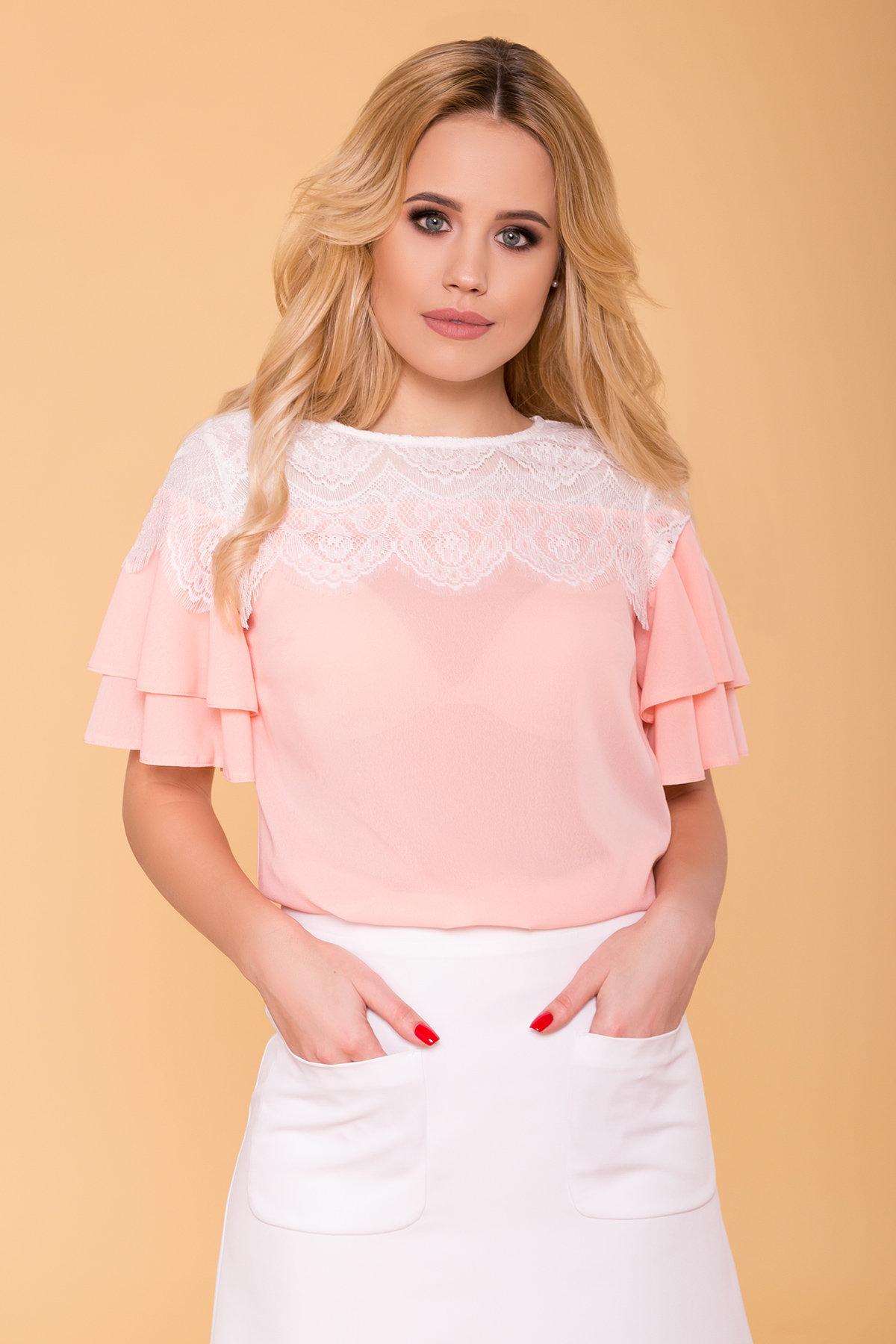 Блуза Ирис 4835 АРТ. 34575 Цвет: Пудра - фото 3, интернет магазин tm-modus.ru