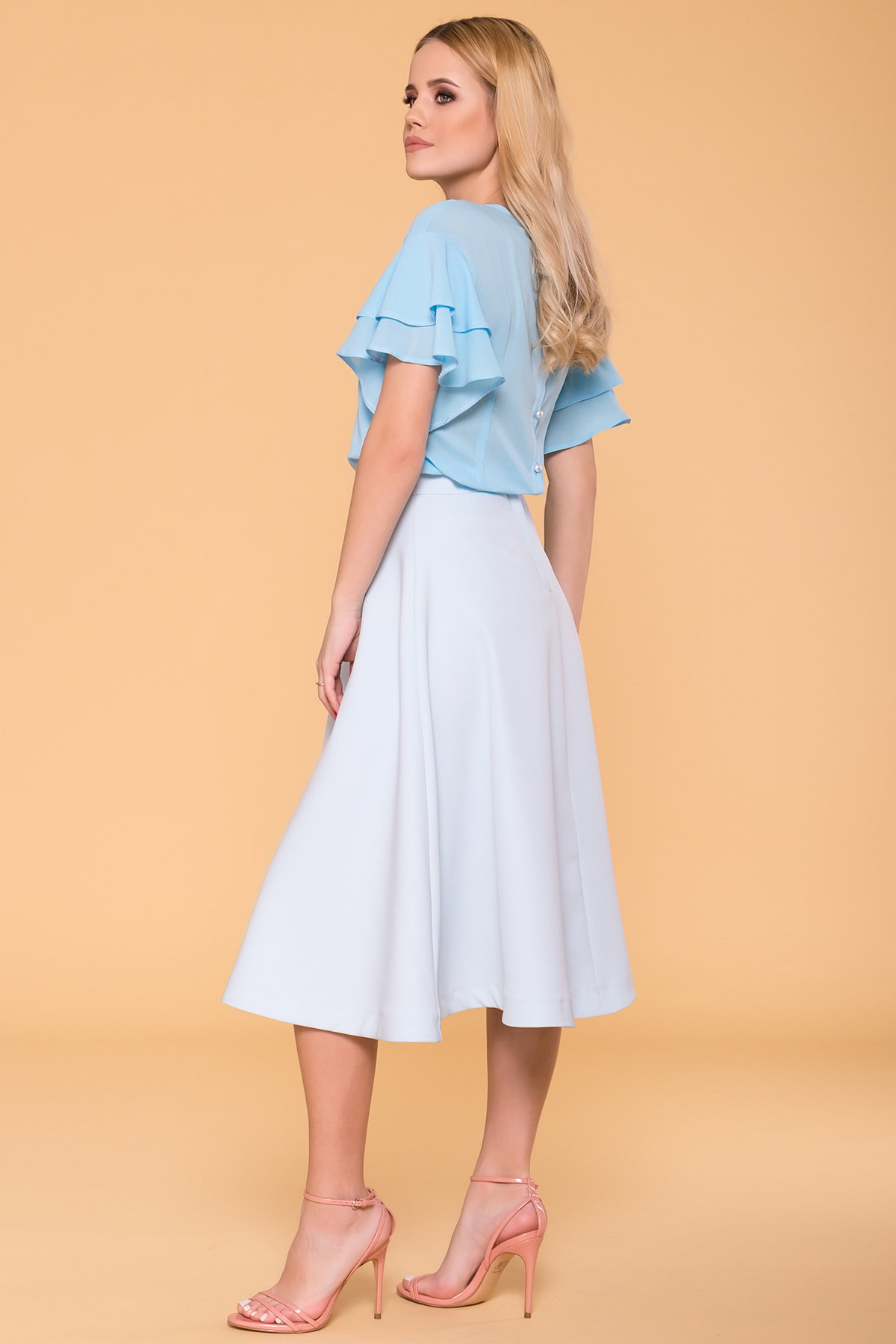 Блуза Мария 4882 АРТ. 34581 Цвет: Голубой - фото 2, интернет магазин tm-modus.ru