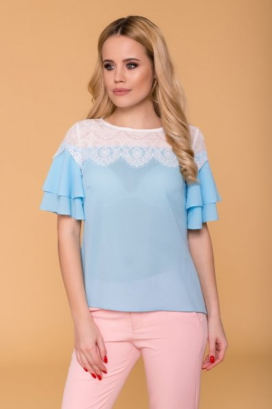 Блуза Ирис 4835 Цвет: Голубой