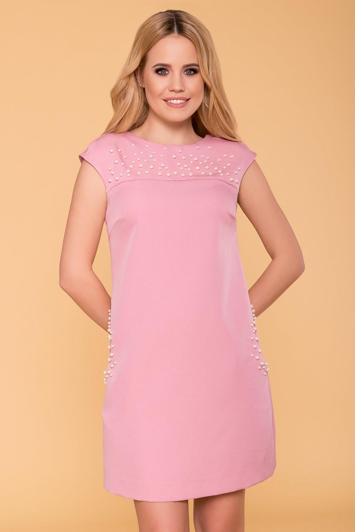 Платье с коротким рукавом Мими 4886 Цвет: Пудра