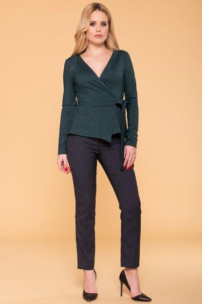 Блуза на запах Марсо 6472 Цвет: Зеленый Темный