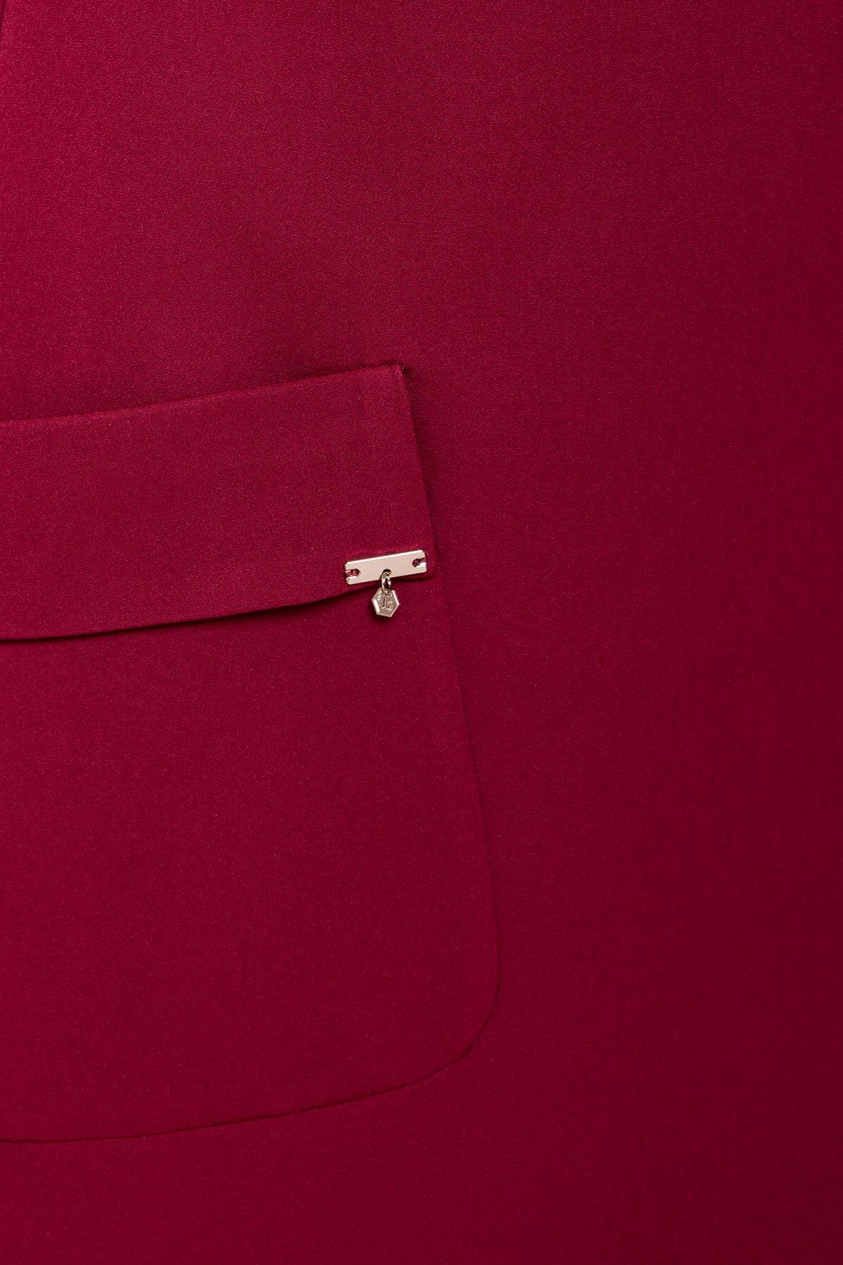 Прямое Платье с рукавом 3/4 Соул лайт 6483 АРТ. 41448 Цвет: Марсала - фото 4, интернет магазин tm-modus.ru