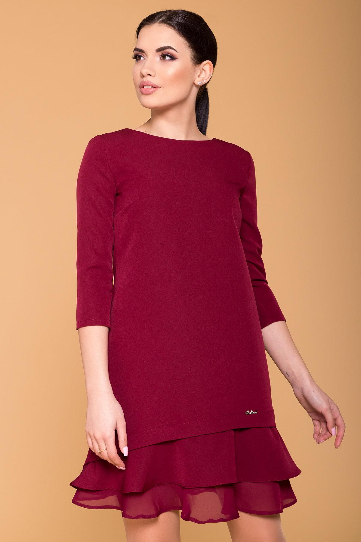 Платье Холли 5952 Цвет: Марсала