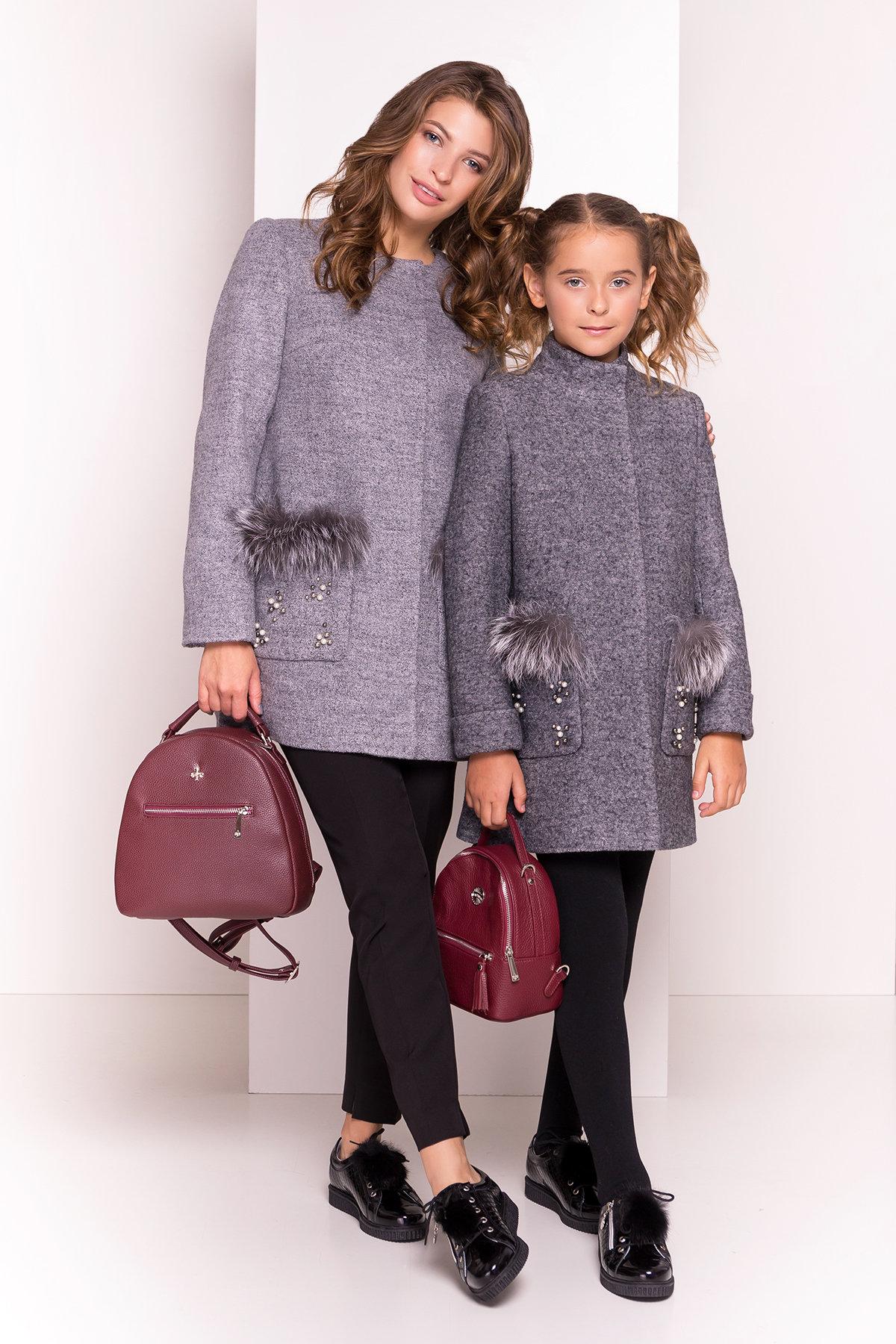 Пальто детское Норма 5286 АРТ. 36527 Цвет: Серый Темный LW-5 - фото 1, интернет магазин tm-modus.ru
