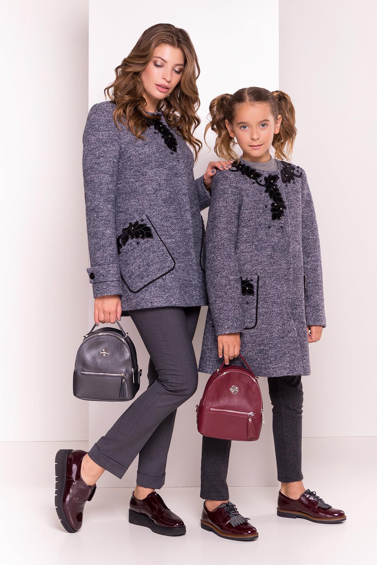Пальто Латта 5328 АРТ. 36539 Цвет: Серый темный LW-22 - фото 1, интернет магазин tm-modus.ru