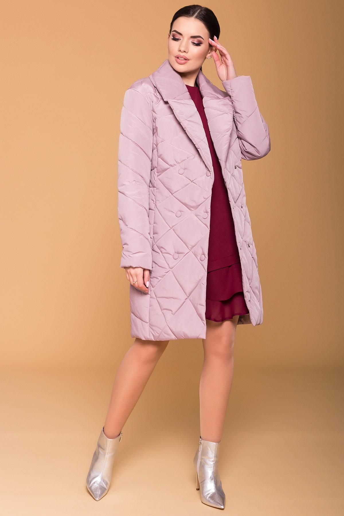 Пальто Сандра 4440 Цвет: Серо-розовый