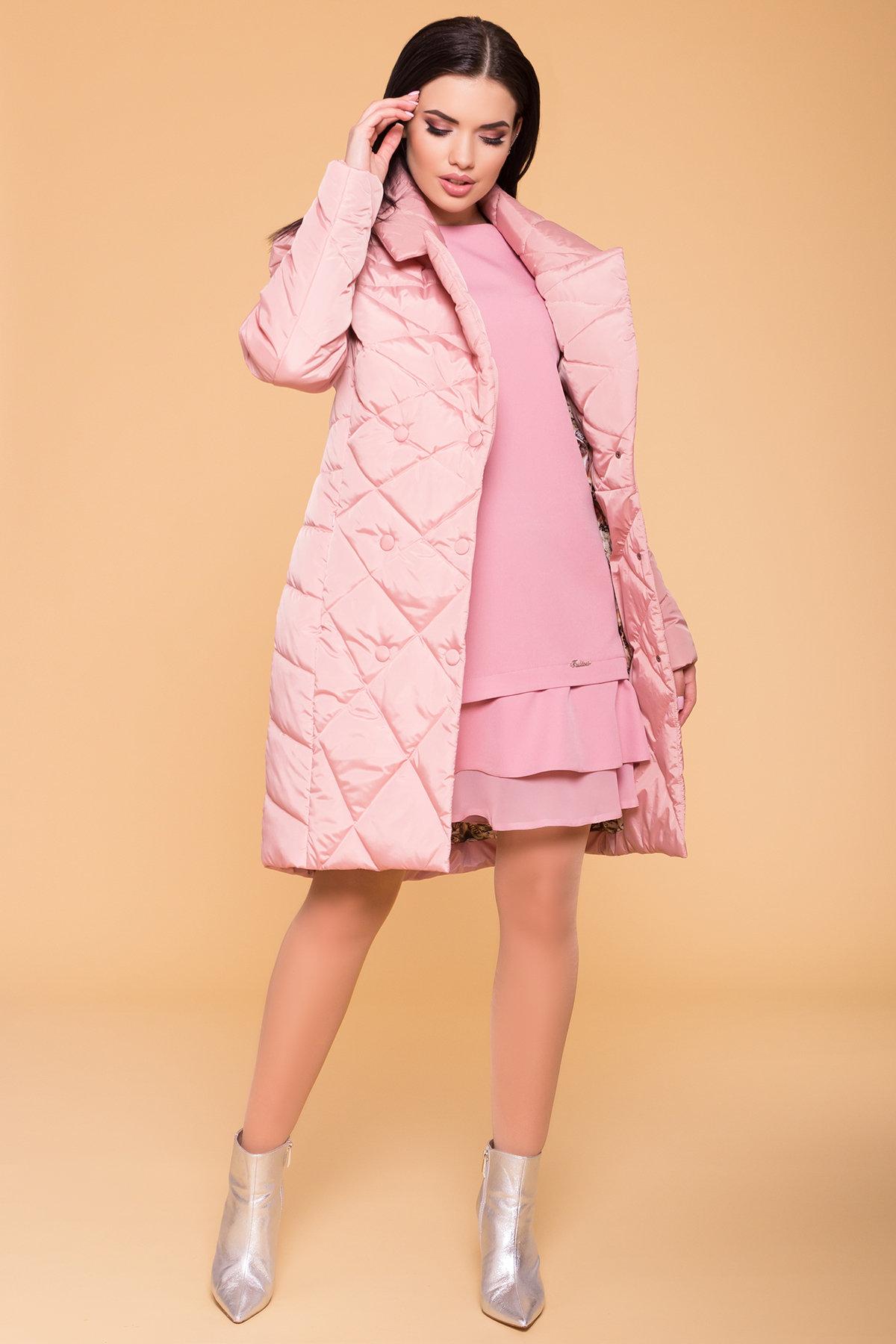 Пальто Сандра 6422 АРТ. 41356 Цвет: Пудра - фото 3, интернет магазин tm-modus.ru