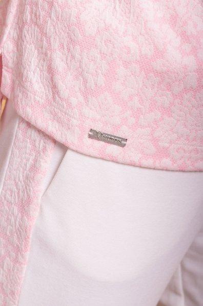 Костюм Дует 6577 Цвет: Белый/розовый цветы/молоко