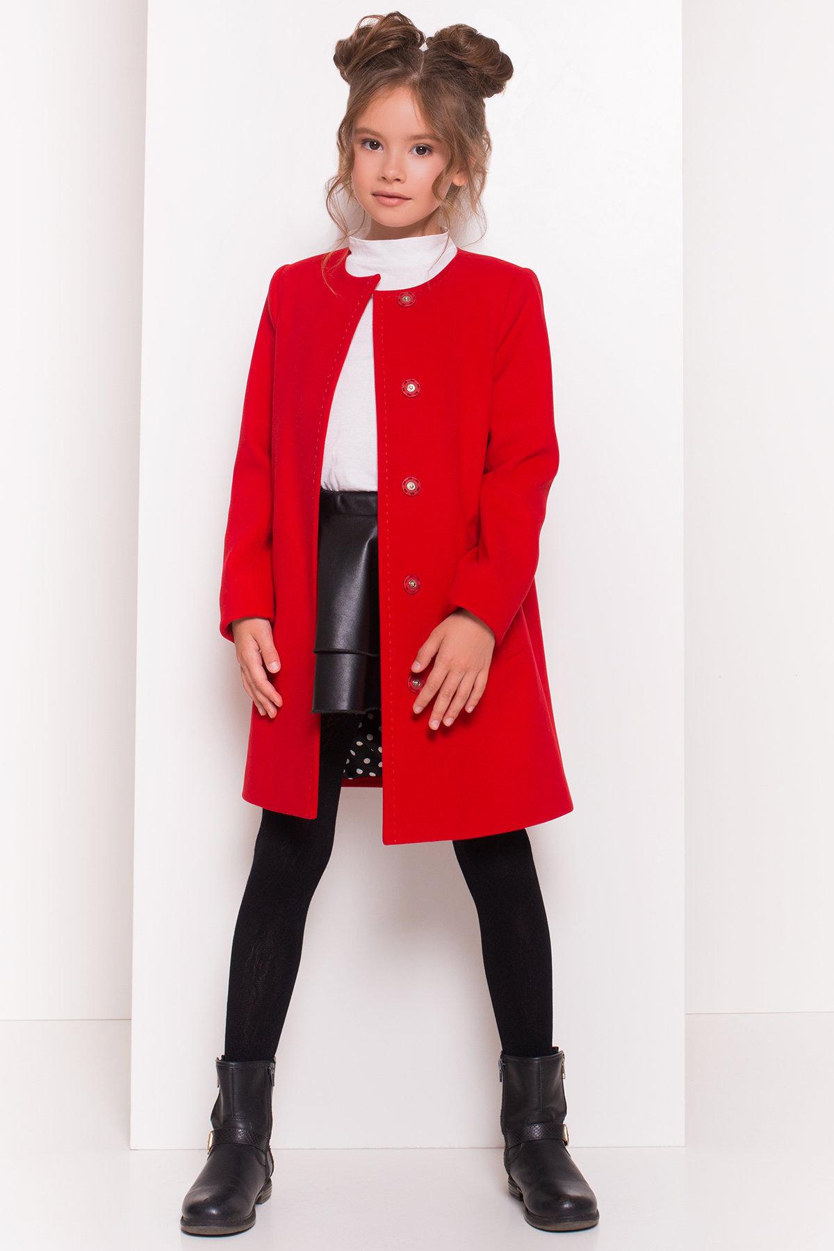 Пальто детское Чита 5297 АРТ. 38350 Цвет: Красный - фото 8, интернет магазин tm-modus.ru