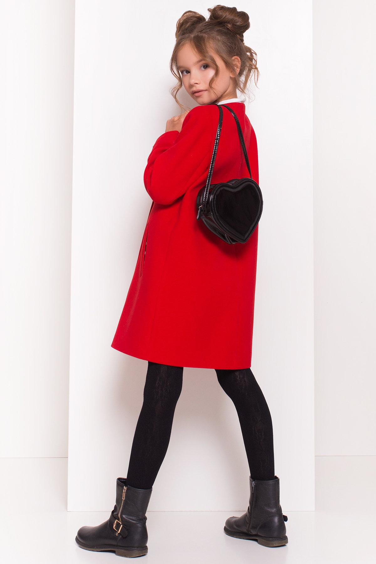 Пальто детское Чита 5297 АРТ. 38350 Цвет: Красный - фото 2, интернет магазин tm-modus.ru