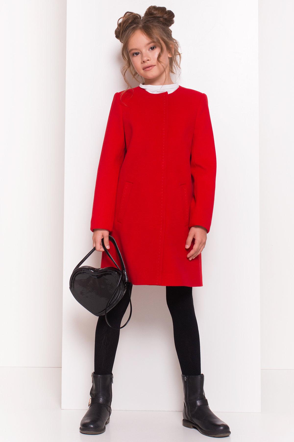 Пальто детское Чита 5297 АРТ. 38350 Цвет: Красный - фото 3, интернет магазин tm-modus.ru
