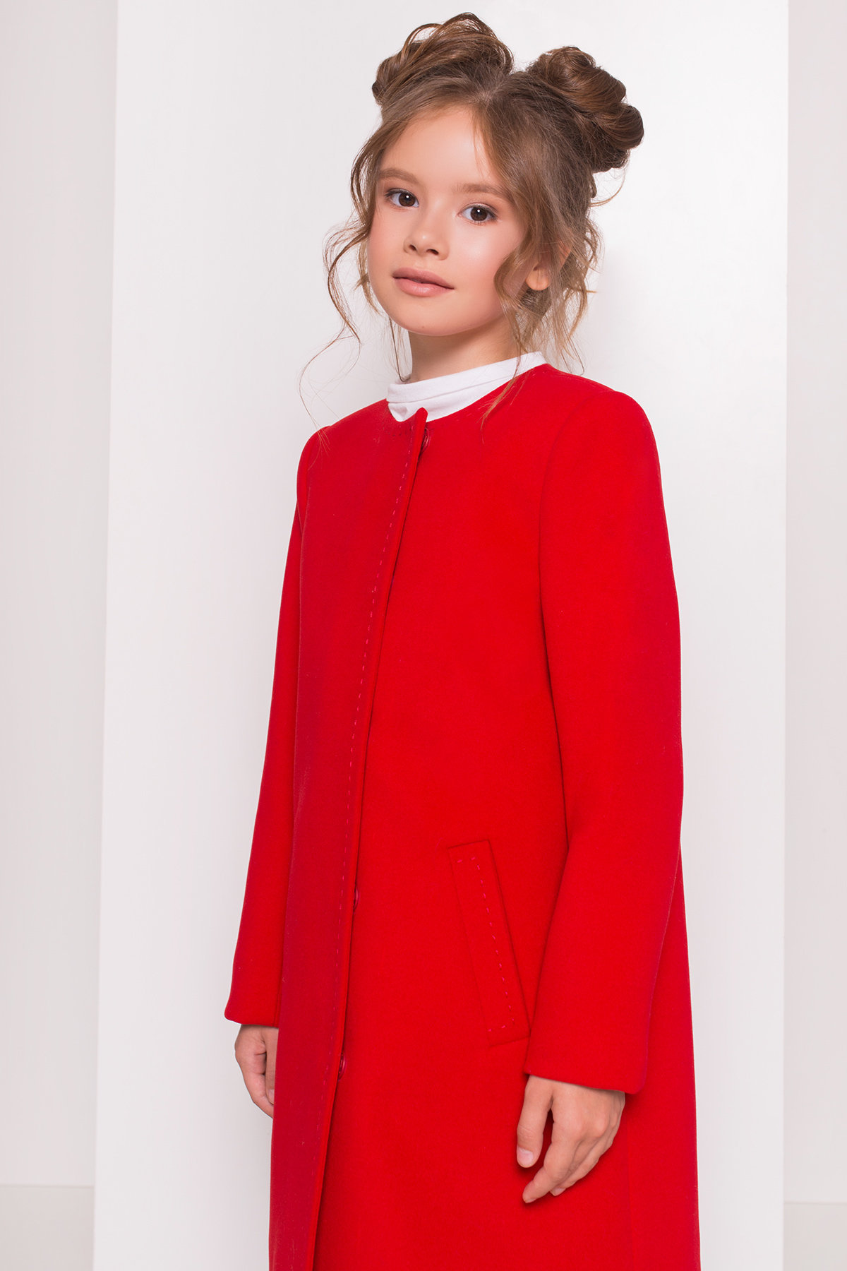 Пальто детское Чита 5297 АРТ. 38350 Цвет: Красный - фото 4, интернет магазин tm-modus.ru
