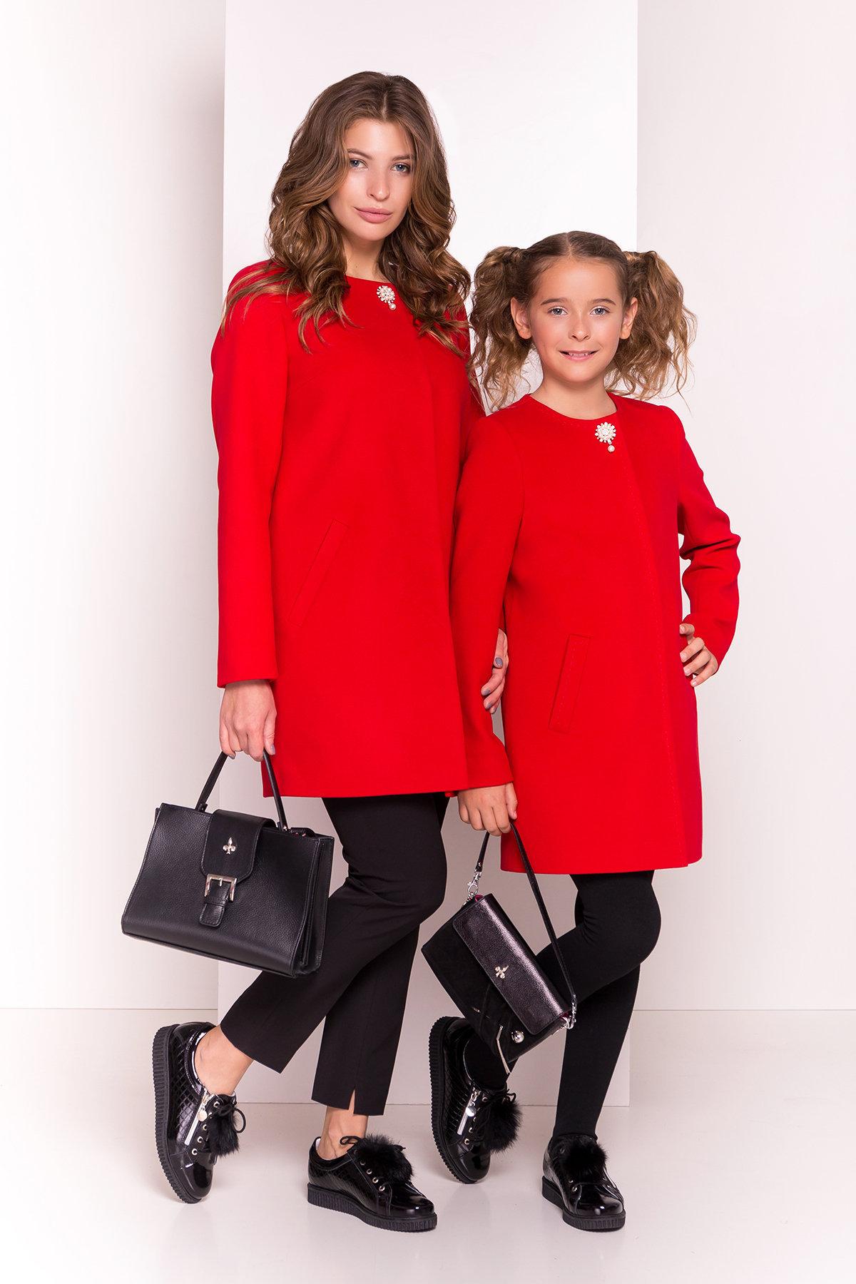 Пальто детское Чита 5297 АРТ. 38350 Цвет: Красный - фото 6, интернет магазин tm-modus.ru