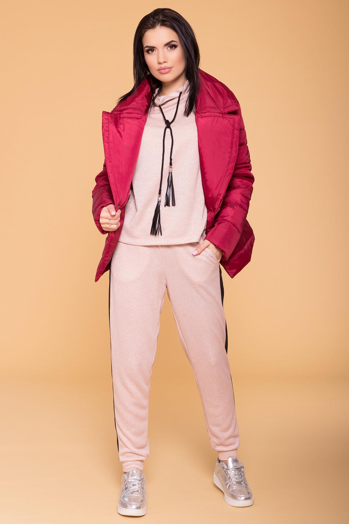 Куртка с отложным воротником Мириам 6414 АРТ. 41383 Цвет: Марсала - фото 3, интернет магазин tm-modus.ru