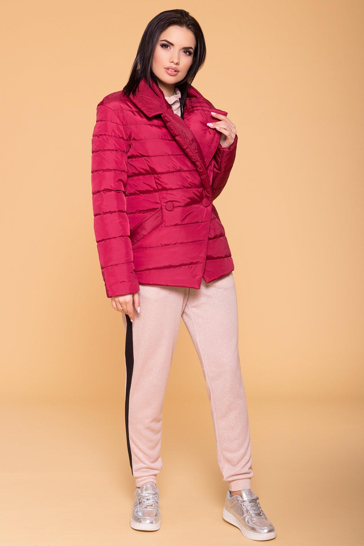 Куртка с отложным воротником Мириам 6414 АРТ. 41383 Цвет: Марсала - фото 4, интернет магазин tm-modus.ru