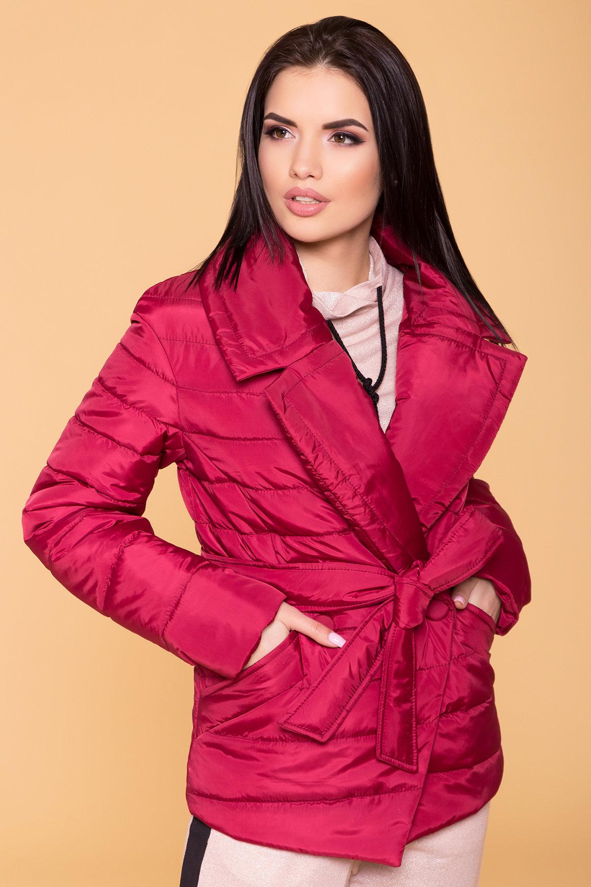 Куртка с отложным воротником Мириам 6414 АРТ. 41383 Цвет: Марсала - фото 5, интернет магазин tm-modus.ru