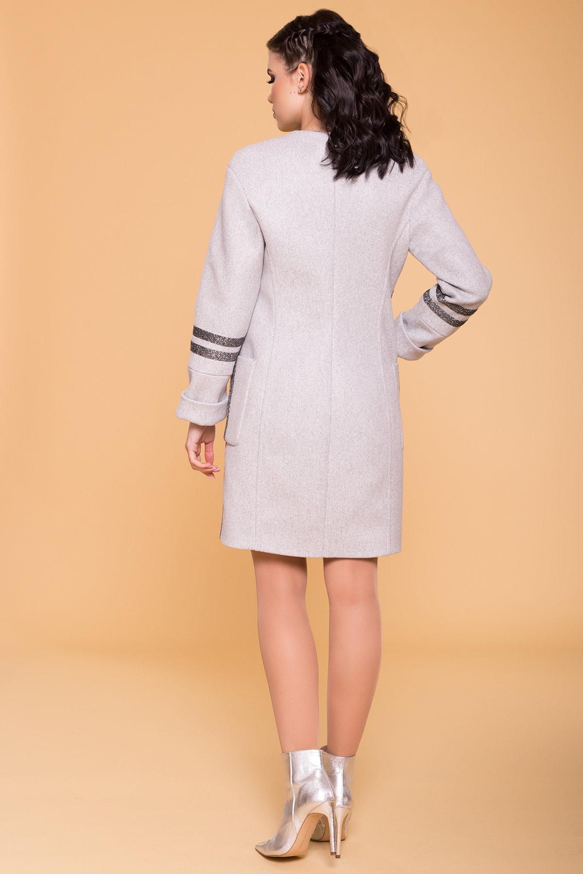 Пальто Приоритет лайт 6300 АРТ. 41467 Цвет: Серый Светлый 23 - фото 2, интернет магазин tm-modus.ru