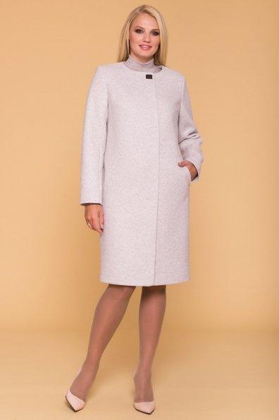 Пальто Фортуна лайт Donna 4464 Цвет: Серо-бежевый С16