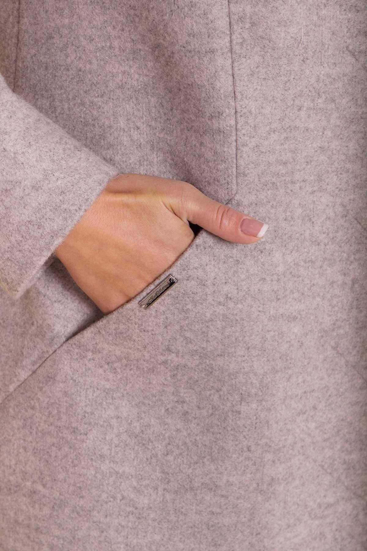 Пальто Сплит DONNA 4466 Цвет: Бежевый 31