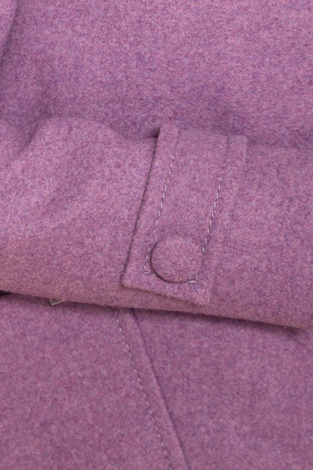 Пальто Латте 5636 АРТ. 41674 Цвет: Сирень 42 - фото 5, интернет магазин tm-modus.ru