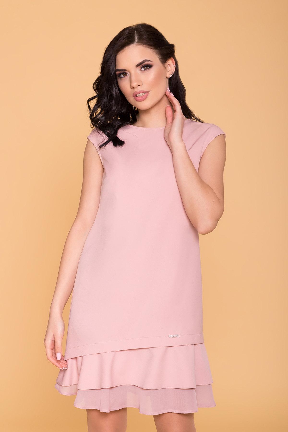 Платье Холли 6389 Цвет: Пудра 138