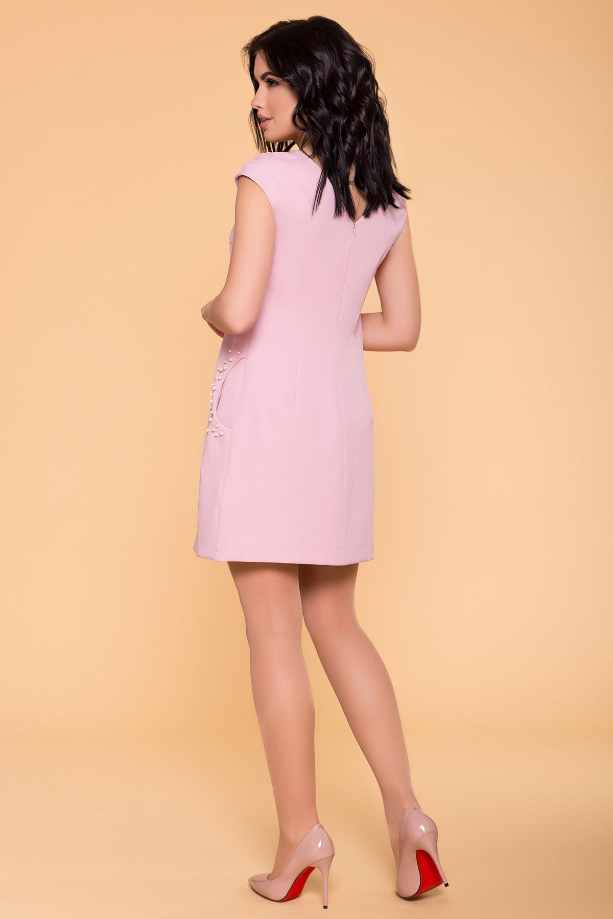 Платье с коротким рукавом Мими 4886 АРТ. 41712 Цвет: Пудра 138 - фото 2, интернет магазин tm-modus.ru