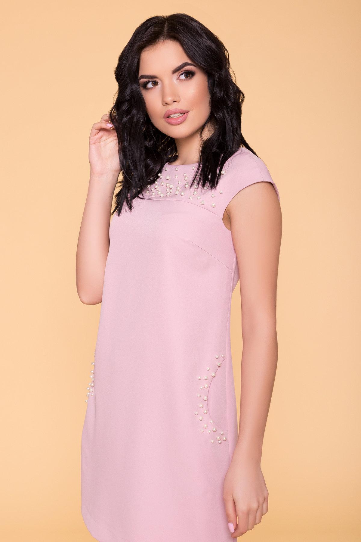 Платье с коротким рукавом Мими 4886 АРТ. 41712 Цвет: Пудра 138 - фото 3, интернет магазин tm-modus.ru