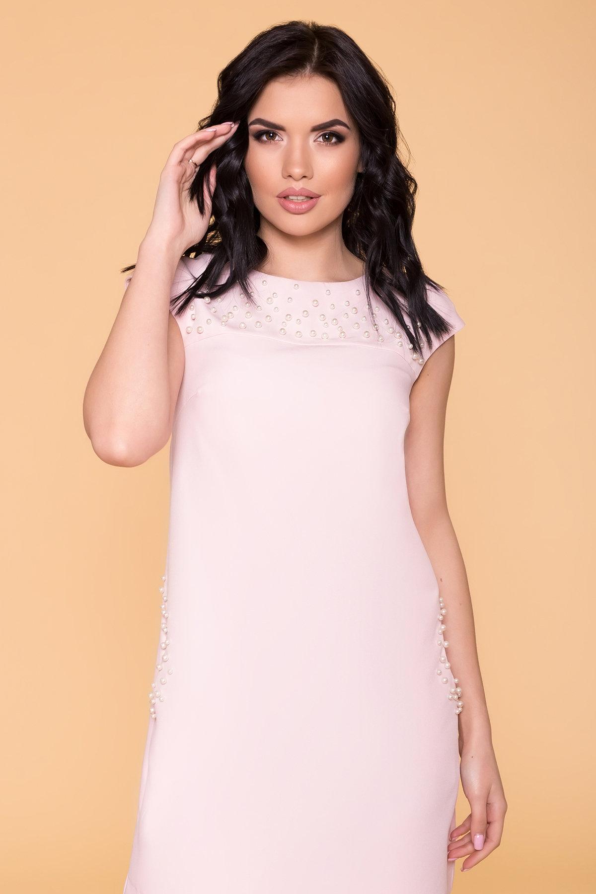 Платье с коротким рукавом Мими 4886 АРТ. 41711 Цвет: Пудра светлая 11 - фото 3, интернет магазин tm-modus.ru