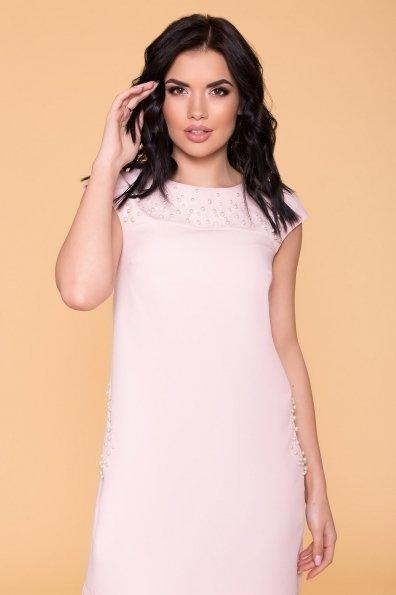 Платье с коротким рукавом Мими 4886 Цвет: Пудра светлая 11