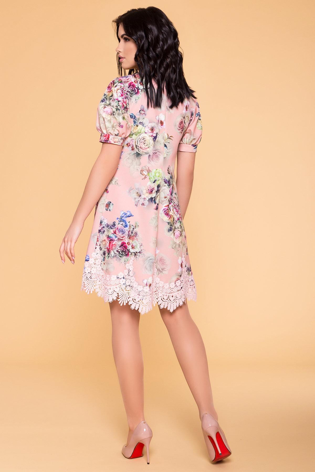 Платье Лера 6487 АРТ. 41505 Цвет: Пудра Роза - фото 2, интернет магазин tm-modus.ru