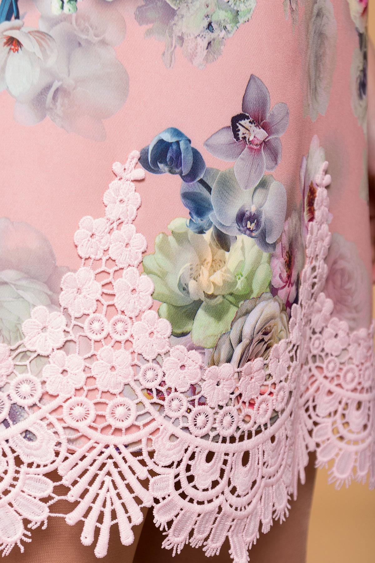Платье Лера 6487 АРТ. 41505 Цвет: Пудра Роза - фото 4, интернет магазин tm-modus.ru