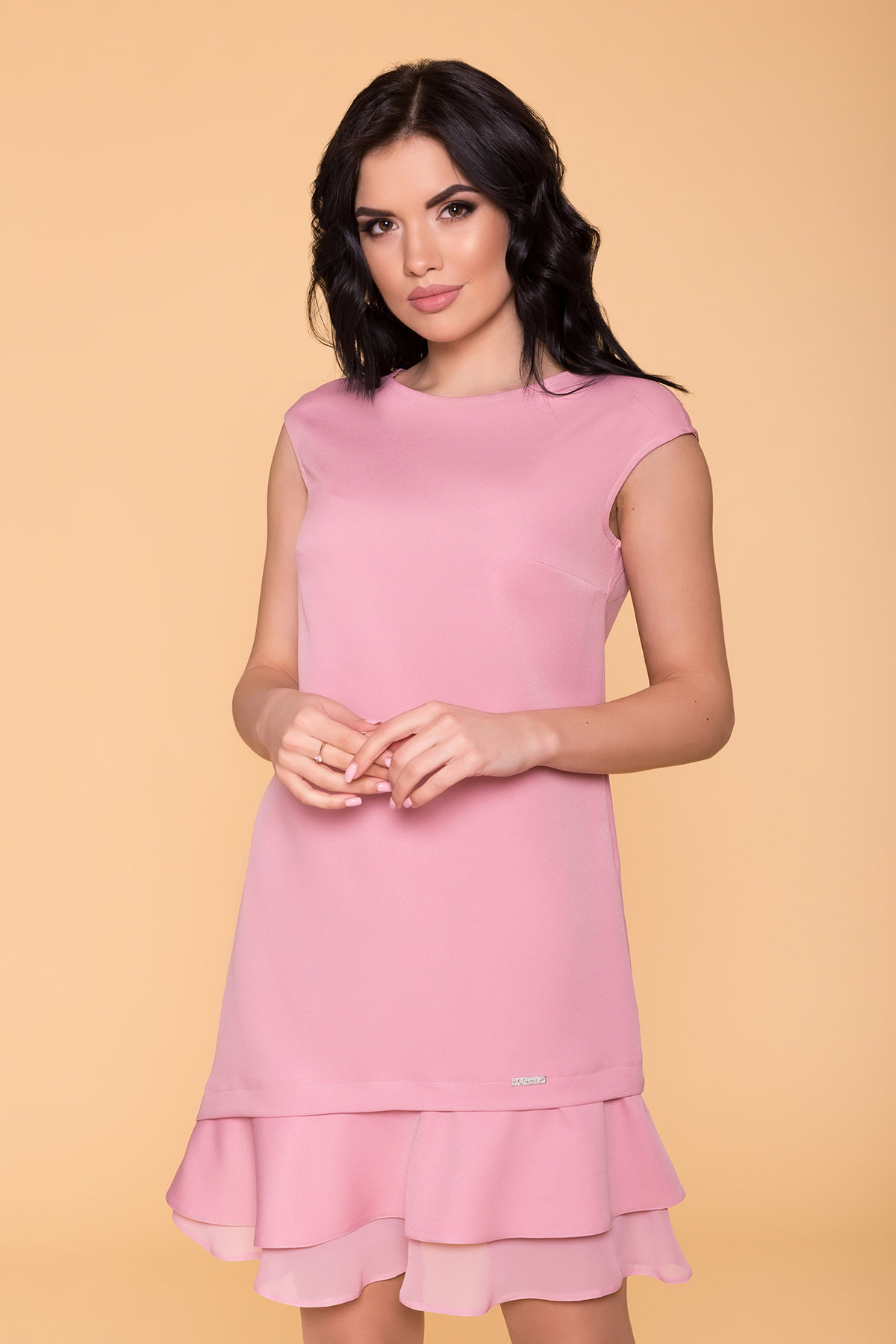 Платье Холли 6389 Цвет: Пудра 15