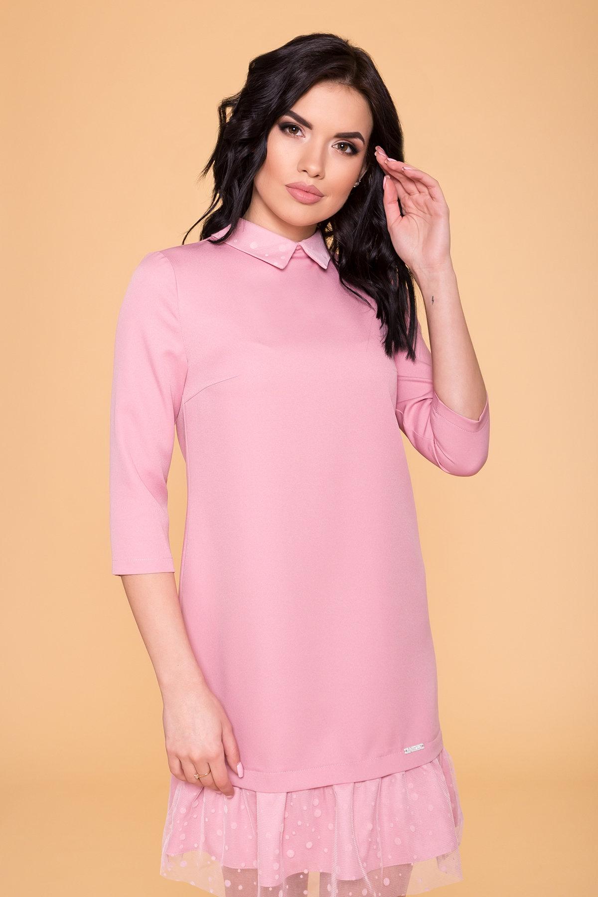 Платье Грейси 5949 АРТ. 41718 Цвет: Пудра 15 - фото 3, интернет магазин tm-modus.ru