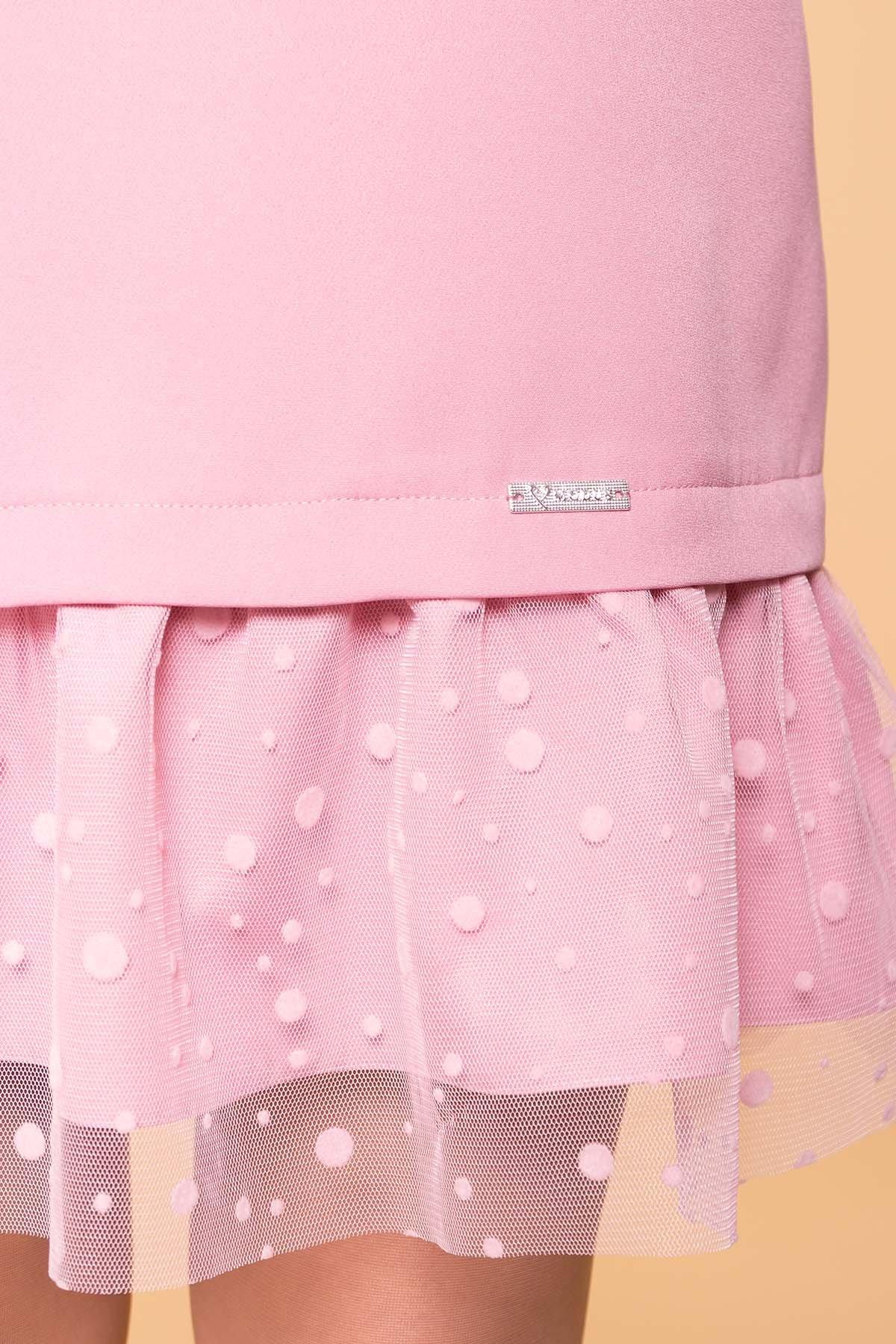 Платье Грейси 5949 АРТ. 41718 Цвет: Пудра 15 - фото 4, интернет магазин tm-modus.ru